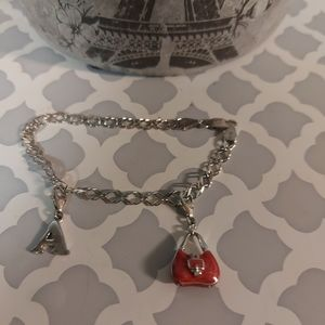 925 charm bracelet with 2 charms